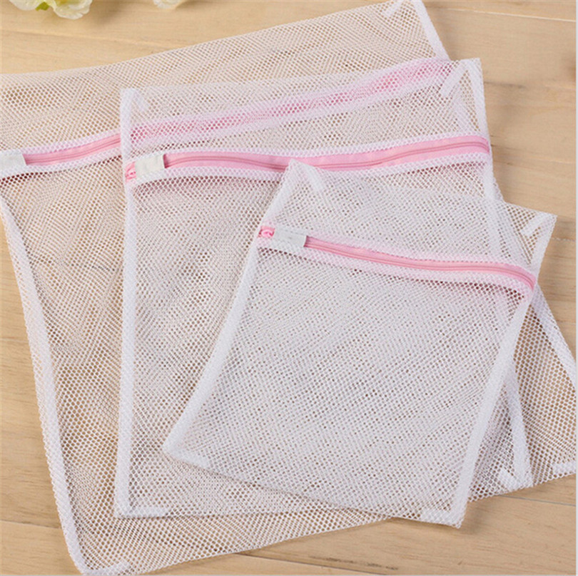 3PCS/set Bra underwear Products Zippered Mesh Laundry Bags
