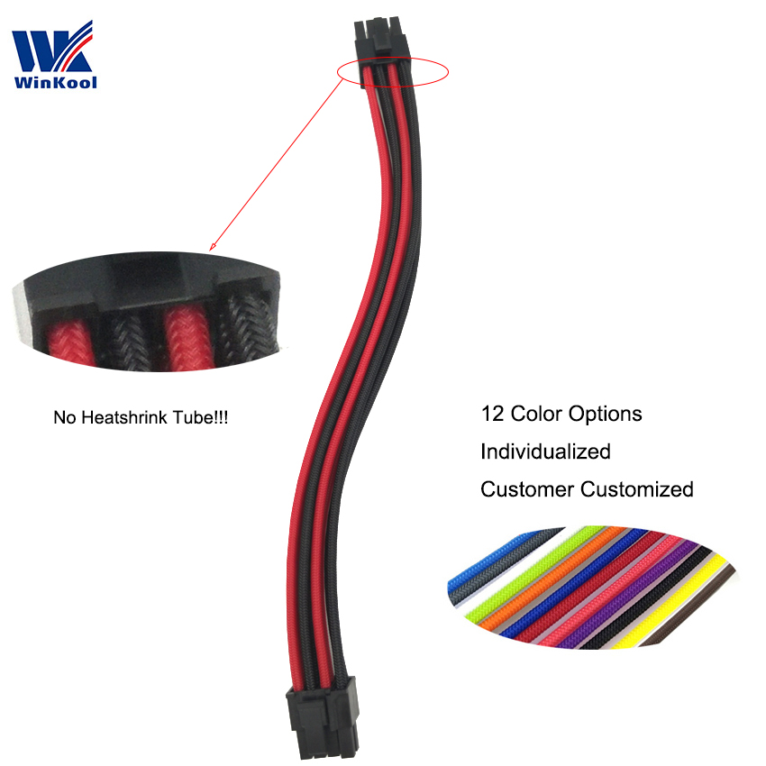 WinKool Modular PSU Individually PCI-E 8Pin (6+2P) Male Type 3/4 Sleeved Cable For Corsair PSU All AXi HXi RMi RMx RM SF Series