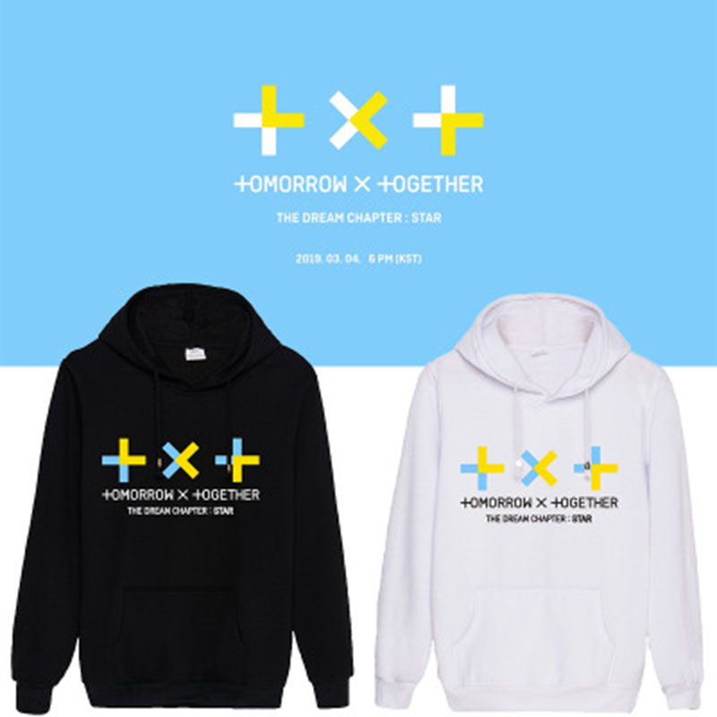 2019 Txt Concert The Dream Chapter Star Album Hoodies Harajuku TOMORROW X TOGETHER Hooded New Pullover