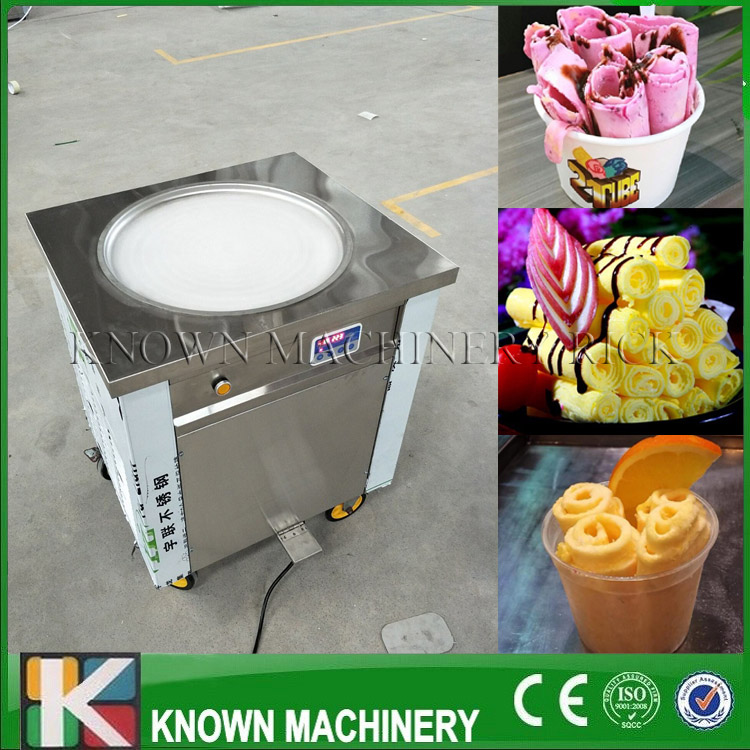 Thailand Single Round Fried Ice Cream Machine if you choose me I will give some Surprise for you|Ice Cream Makers| |  - title=