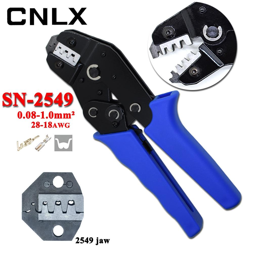 Intelligent Cnlx Sn 2549 E.i Xh2.54 Crimpen Zange Einsatz Frühjahr Terminal 2,8/3,0/3,96/4,8mm QualitäT Und QuantitäT Gesichert Werkzeuge Zangen