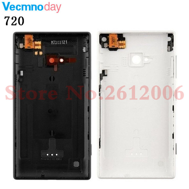 best service 675a5 14a4d US $8.82 5% OFF Vecmnoday 100% Original New Housing Battery Back Cover Door  Replacement for Nokia Lumia 720 Lumia720 Back Cover Door -in Mobile Phone  ...