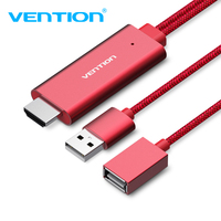 Vention HDMI Cable 2M USB To HDMI Digital Cable HDMI Converter AV Cable For IPhone8 IPhone7