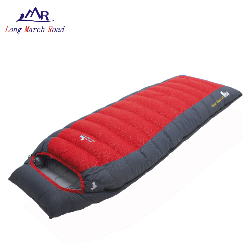 best service 1dfc8 55085 US $62.8 43% OFF|LMR down sleeping bag adult winter 0 degree sleeping bags  for cold weather hiking bivy ultralight single envelope bag sleep lays-in  ...