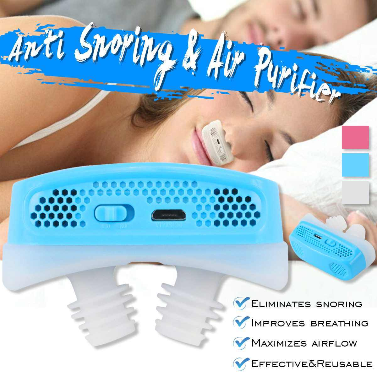 New Mini CPAP Nose Machine Silicone Anti Snoring Electronic Nose Breathing Apparatus Nasal Dilators Apnea Aid Device