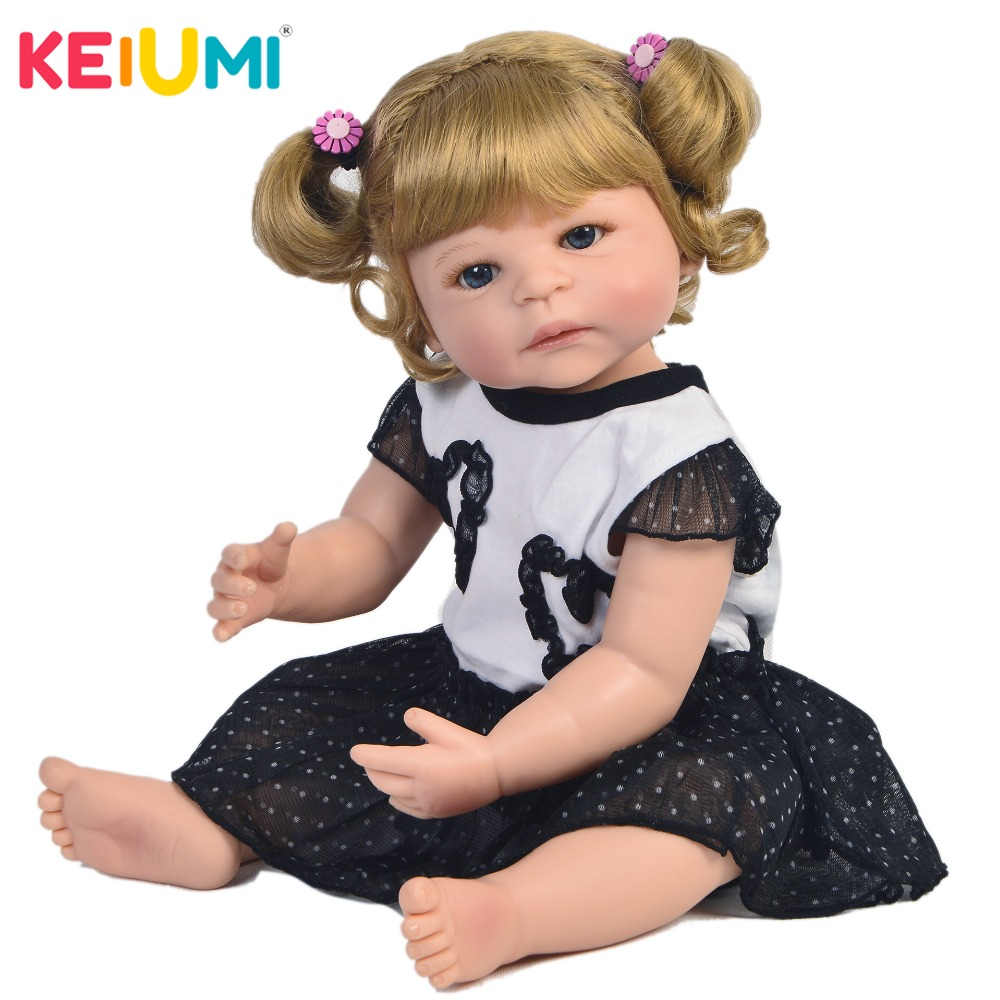 Fashion KEIUMI Reborn Doll Handmade All Silicone Lifelike Newborn Babies Doll For Kid Christmas Holiday Gift