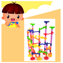Three-Dimensional Labyrinth Track Ball Game Plastic Building Blocks Children Early Education  Assembling Toys