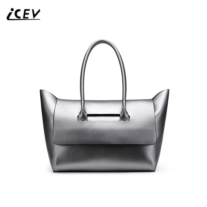 ICEV New Fashion Cow Split Leather Women Leather Handbags Designer Handbags High Quality Cowhide Ladies Big Top Handle Bag Totes elegant top handle handbags female new designer pu leather evening bag 2017 fashion high grade exquisite embroidered women totes