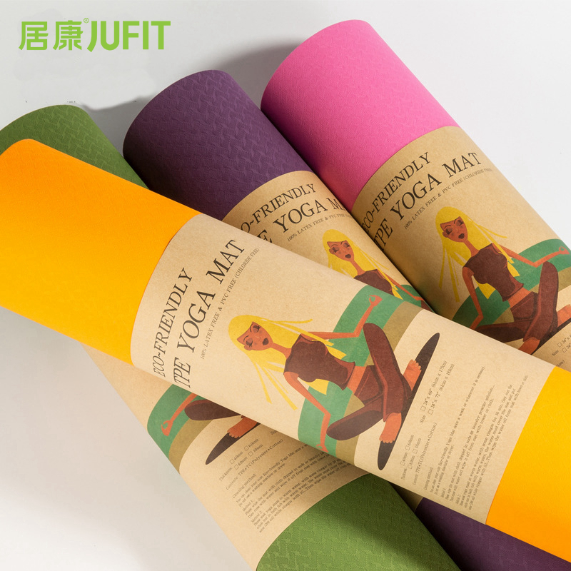 JUFIT 1830*610*6MM TPE Yoga Mat Exercise Sports Mats For Fitness Gym Environmental Tasteless Pad For Beginner jufit 1830 610 6mm tpe yoga mat double sided color exercise sports mats for fitness gym environmental tasteless pad