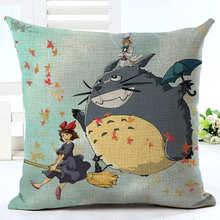 Cartoon Style Fashion Decorative Cushion Cute Totoro Printed Throw Pillow Car Home Decorative Cojines Decorative Pillows HH057