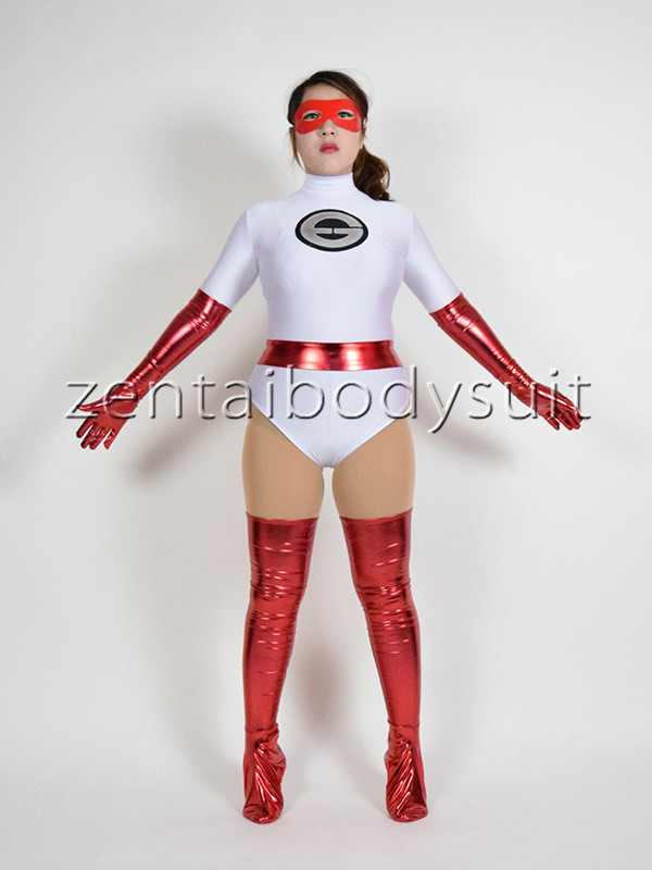 White Girl The Incredibles Elastigirl Superhero Costumes Halloween Cosplay Party Prom Lycra Spandex Zentai Suit