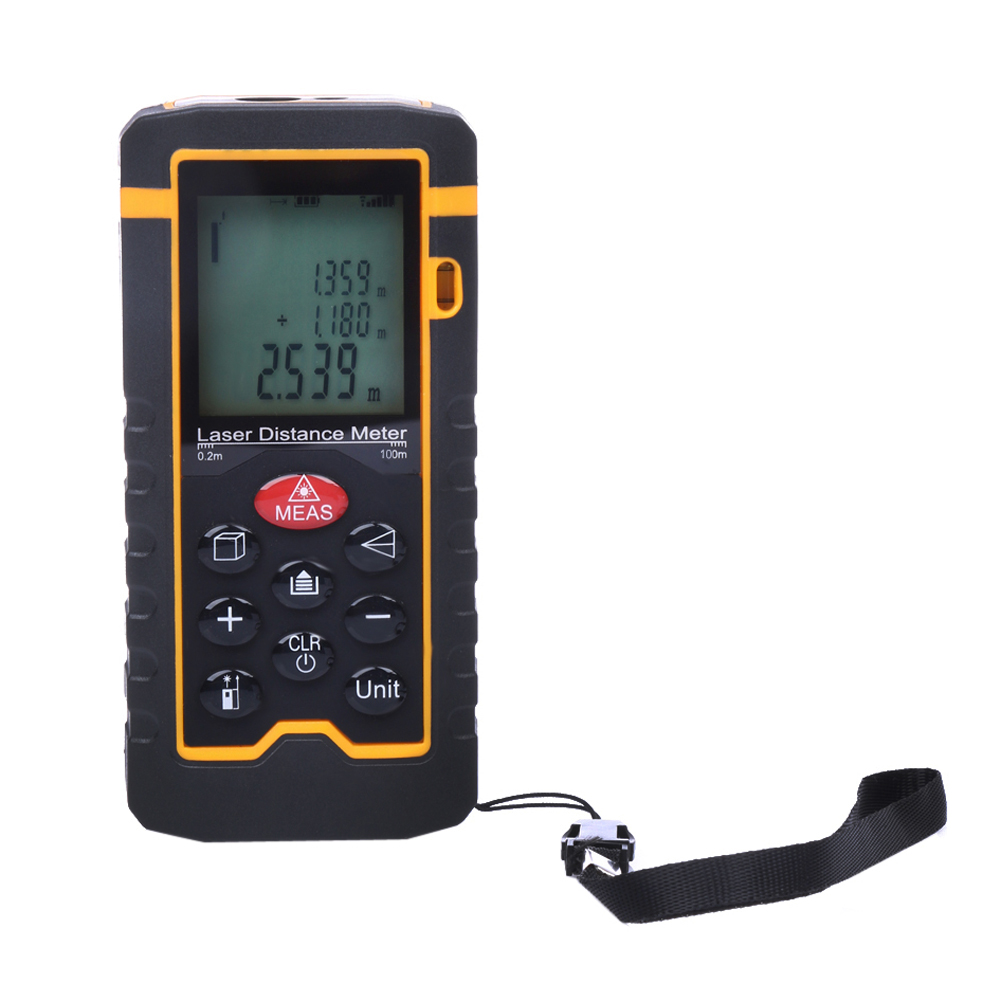 ФОТО 100M/328ft/3937in Laser Distance Meter Rangefinder Digital Laser Tape Range Finder Measure Diastimeter Tool