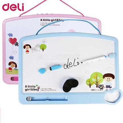 1 Set Students Whiteboard 2 Colors Boy Girl White Board 350x260mm Include Mark Pen Eraser And Magnetic Button Deli 20D7805 святой праведный иоанн кронштадтский
