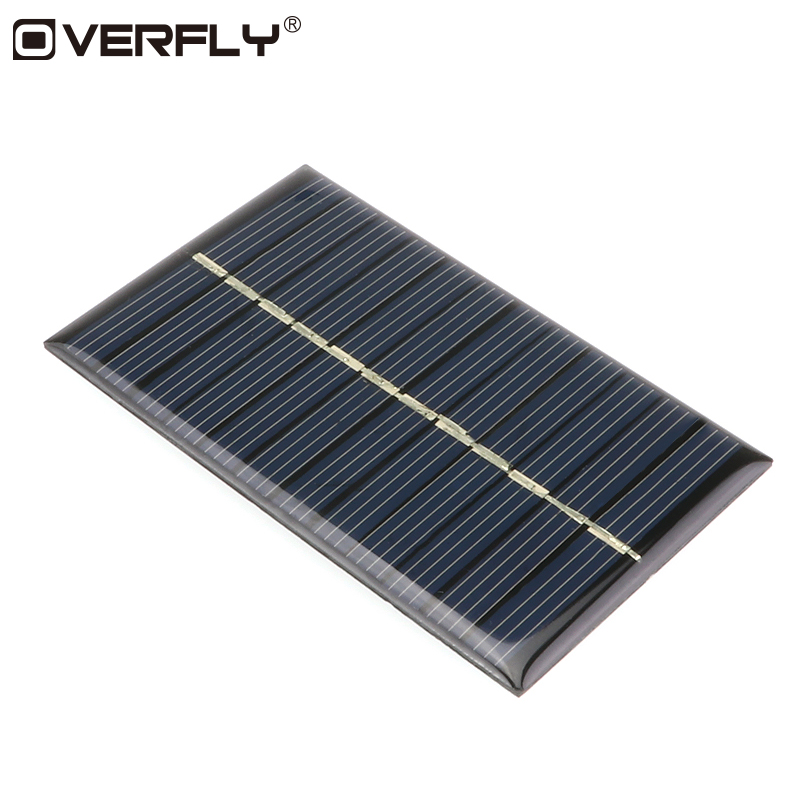 Overfly 6V 0.6W Solar Power Panel Solar System Module Home DIY Solar Panel For Light Battery Cell Phone Chargers Home Travelling