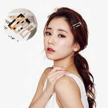 Women Ladies Geometric Hollow Out Rectangle Shape Hair Clips Acetic Acid Tortie Leopard Metal Alloy Wavy Bobby Pins Side Bangs stylish octagon square hollow out eight shape alloy bracelet for women