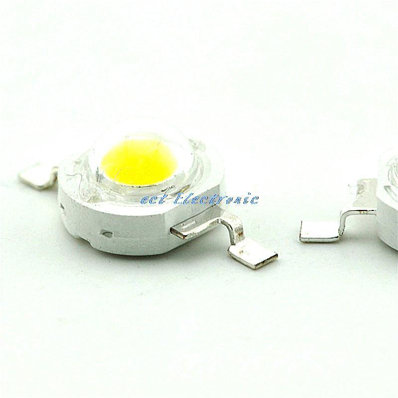 Warm white four golden 1W white light high power LED 80-90LM (10pcs)