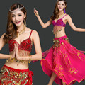 Bellydance oriental Belly Indian gypsy dance dancing costume costumes clothes bra belt chain scarf ring skirt dress set suit 168