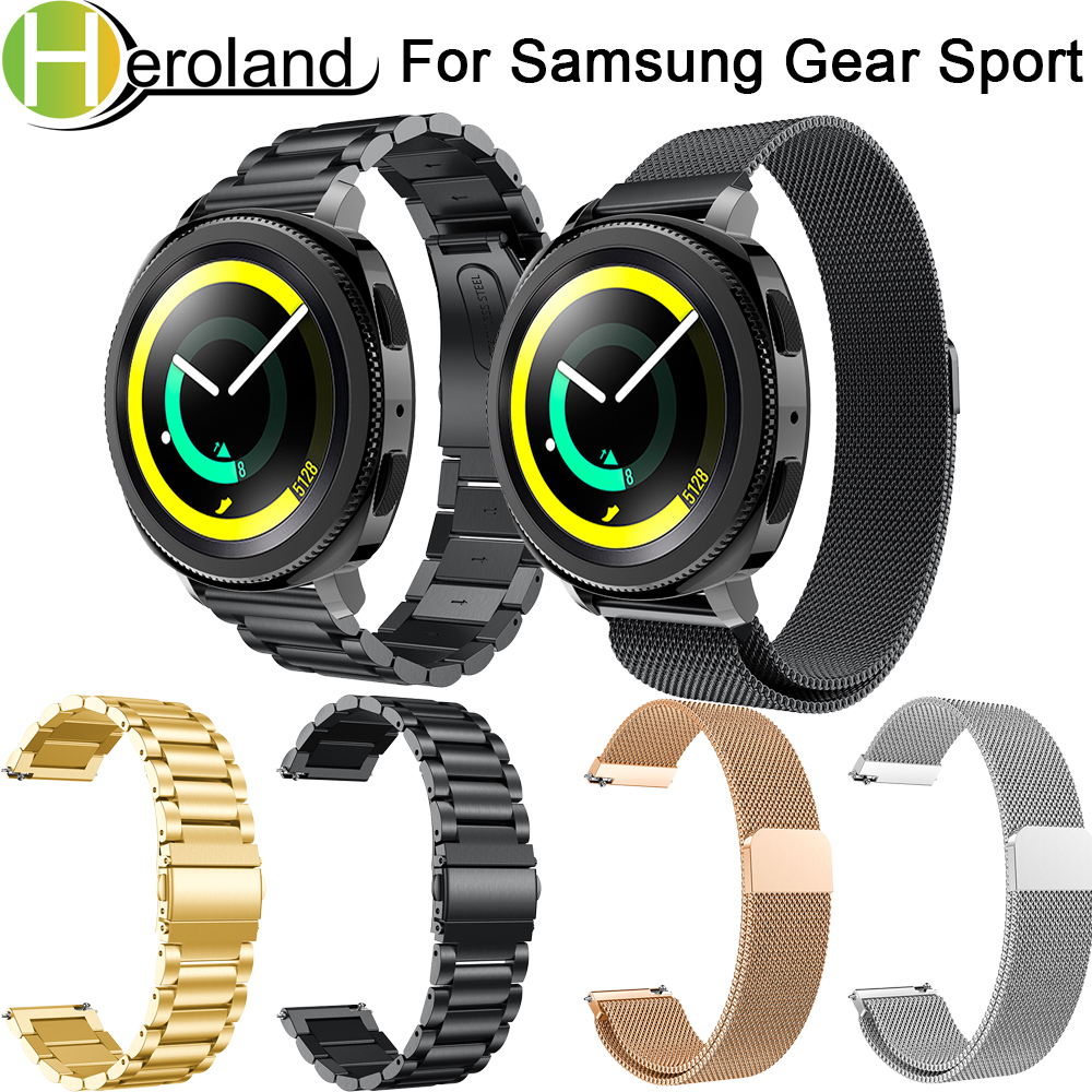 Accessories 20mm stainless steel Milanese watch strap For Samsung Gear Sport Strap for Samsung Gear S2 band Wristband metal Link