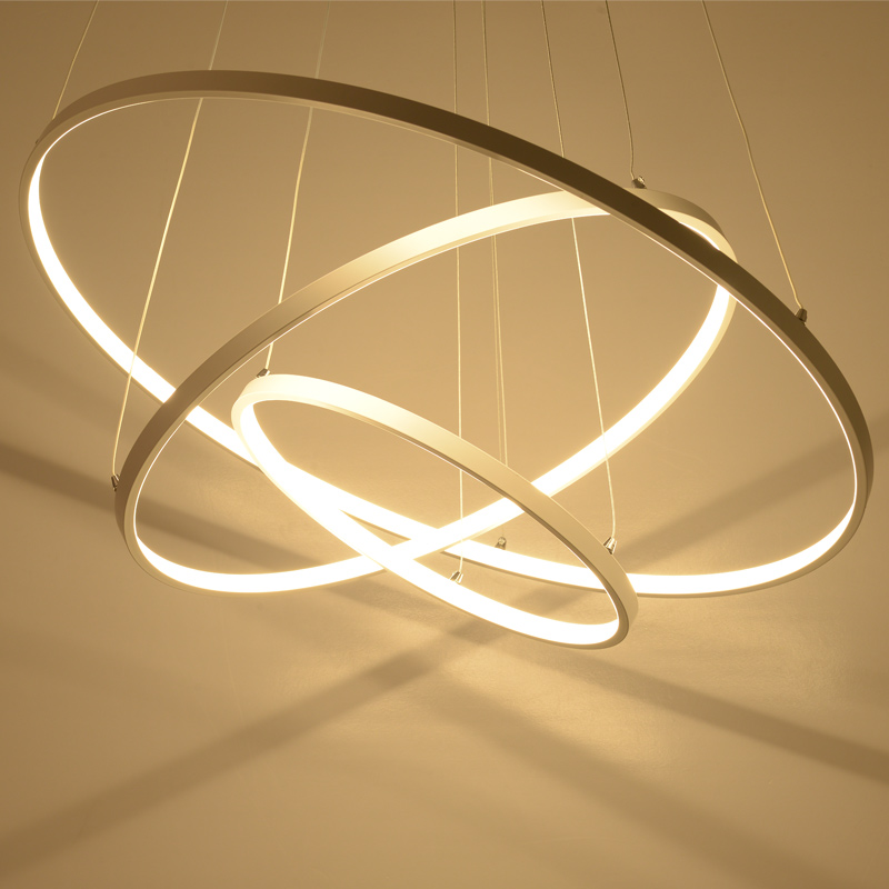Minimalismus Anhänger Lichter Rund Ring Acryl Led Anhänger Lampen Multivariaten Stil Luftfahrt Aluminium Legierung Lampe Körper Licht & Beleuchtung Deckenleuchten