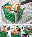 Alta Calidad Reutilizable Plegable carro de Compras carro De Supermercado Bolsa Clip Para Asir Bolsa Carrito de Mano