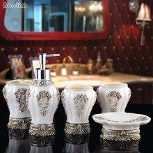 NOOLIM Китай роскошный 5 шт 6 шт./компл. бытовой мыть кисть чашки дозаторы жидкого мыла мыльницы Ванная комната аксессуары, как подарок