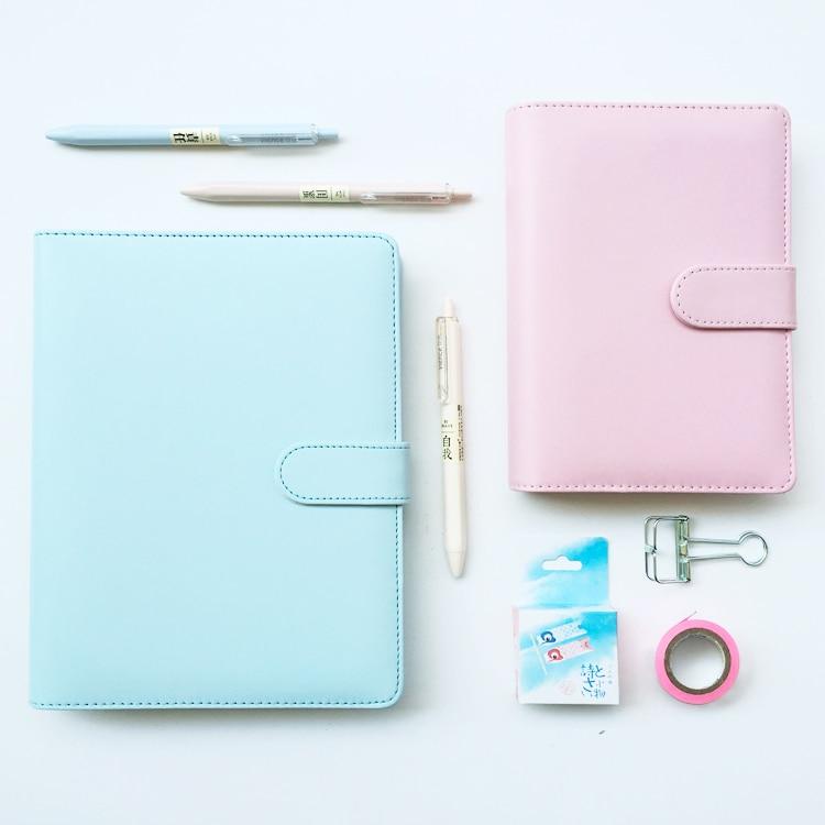 A5 handwritten books Macaron notebook stationery A6 loose-leaf handbook diary notebook blank blank notebook travel dobson c french verb handbook