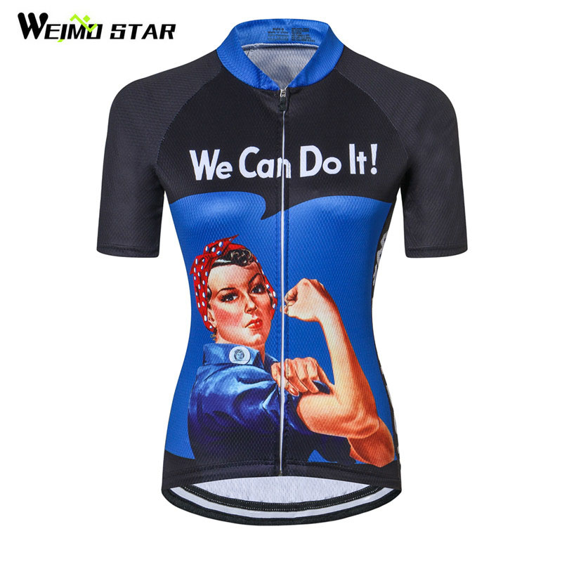 Weimostar Wholesale We Can Do It Women Cycling Jersey 2018 Pro Team Bicycle Clothing Ropa Ciclismo Road mtb Bike Jersey Wear gore bike wear women s xenon lady jersey