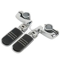 TCMT Chrome Motorcycle Universal 1 25 1 1 4 32mm Highway Engine Guards Footpeg For Harley