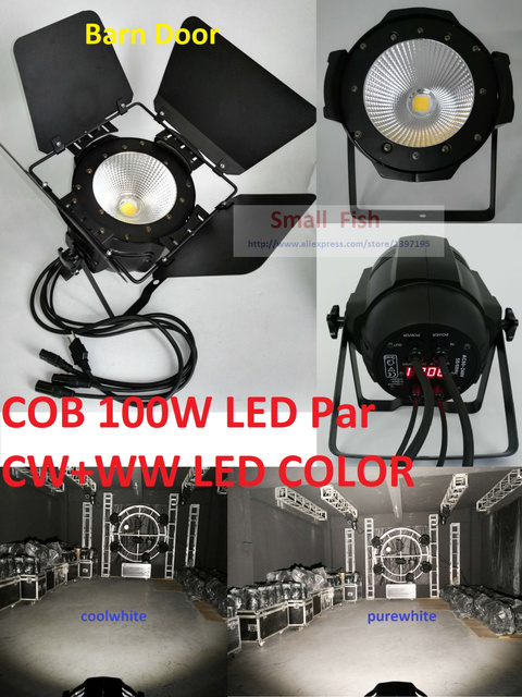 2016 Led COB Par Light 100W High Brightness Aluminium Case White and Warm White 100W Cob Led Par Light For Sale Dmx Stage Lights