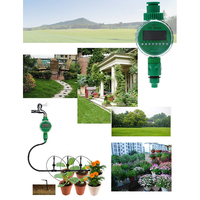 Automatic Water Timer Irrigation Controller System Intelligent Electronic LCD Display Home Ball Valve Watering Timer Garden Drip|Garden Water Timers| |  -