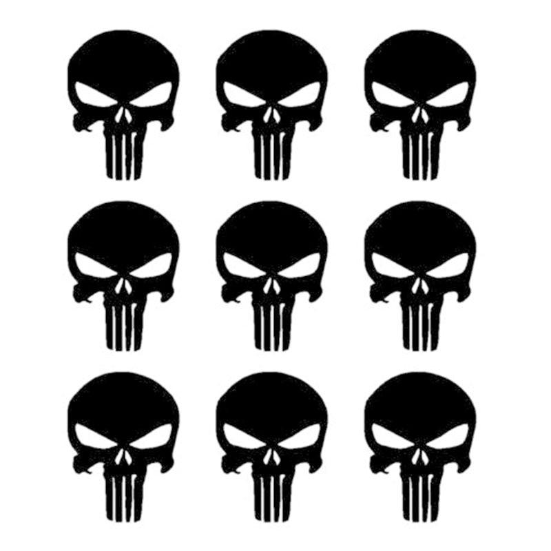 """9 шт. для Каратель Череп виниловые наклейки телефон шлем пистолет Mag """" наклейки набор из 9 YH-GH9"""