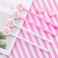24 PCS Rosa Mädchen Softhearted von Trockenen Katze Pfote von Neutral Stift Kreative Schöne Studenten Kawaii School Supplies Pens für Schreiben