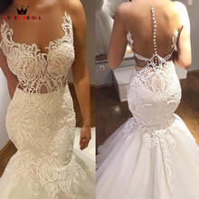 Кружевное винтажное сексуальное длинное торжественное свадебное платье с бисером и блестками, свадебное платье, новинка LR70