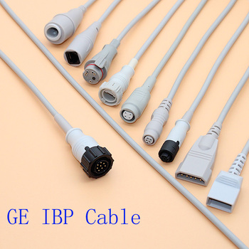 8 PINS Argon/Medex/HP/Edward IBP sensor trunk cable and disposable pressure transducer to GE monitor image