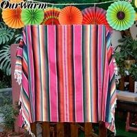 OurWarm мексиканской прямоугольная скатерть бумажный веер фон Fiesta вечерние висит покрывало для декора скатерть для свадебного Вечерние
