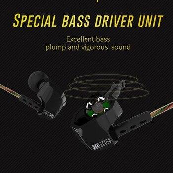 KZ HD9 Compatible Noise Cancelling Earphone HiFi Sport Earbuds Copper Earhook Ear Type In Ear With Mic 2018 sport headphone