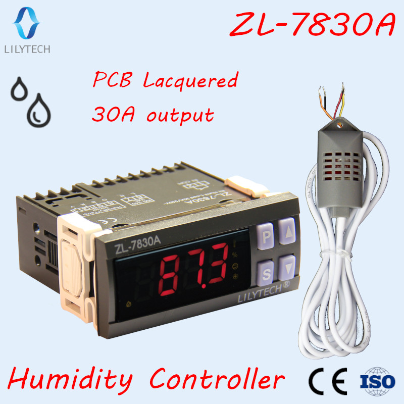 kok 7830 - ZL-7830A, 30A relay, 100-240Vac, Humidity Controller, Humidity controller for incubator, Hygrostat, Lilytech