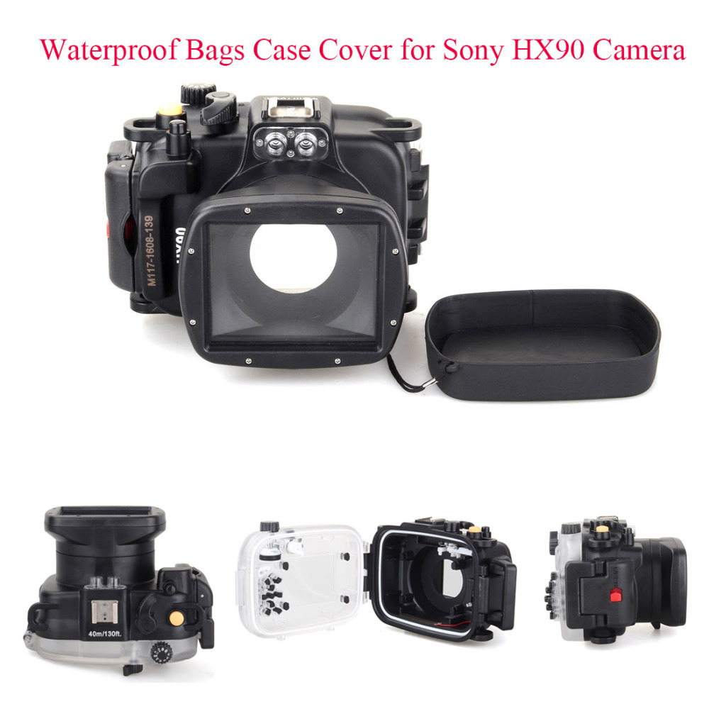 Meikon 40m 130ft Underwater Diving Camera Housing Case for Sony HX90 Camera Waterproof Bags Case Cover