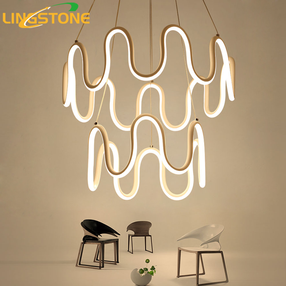 Led Chandelier Lighting Lustre Modern Chandelier Hanging Lamp Decoration Fixture White Aluminum Ceiling Living Room Restaurant николай прохоренок python