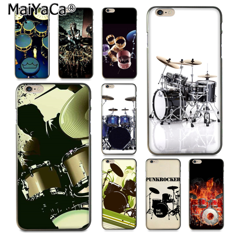 Earnest Maiyaca Musical Instrument Drum Novelty Fundas Phone Case Cover For Iphone 8 7 6 6s Plus X Xs Xr Xsmax 10 5 5s Se Coque Shell A Plastic Case Is Compartmentalized For Safe Storage Phone Bags & Cases