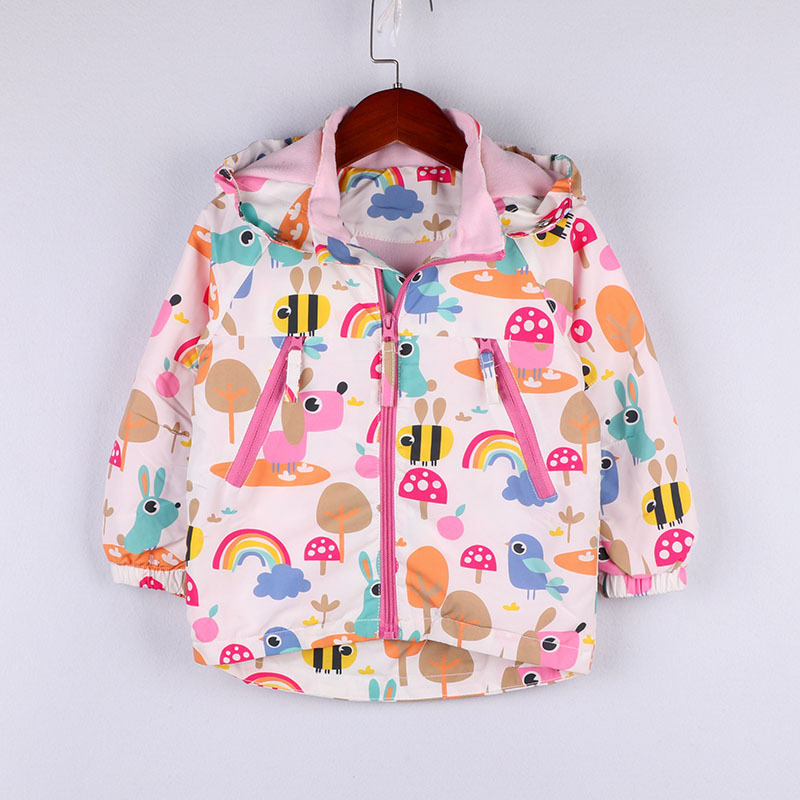 Toddler Girl Sport Jacket Long Sleeve Zip Hoodie Girl Animal Printed Clothes Kids Girls Cartoon Fashion Spring 2019 New Clothes in Jackets Coats from Mother Kids