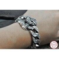 Серебряный 925 мужской браслет Мужская дружба жесткий браслет для мужчин ткачество с серебром 925 ювелирные изделия модный мужской Шарм брасл