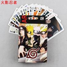 54 stücke Naruto Poker Karten Anime Naruto Abbildung Leaf Village Logo Konoha Uchiha Itachi Kakashi Akatsuki Mitglieder cosplay Poker Karten