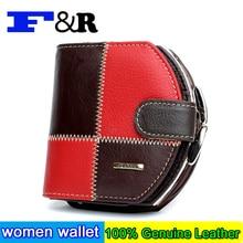 New Fashion Women Purse Plaid Stitching Split Leather Ladies Wallet Female Short Women's Wallets