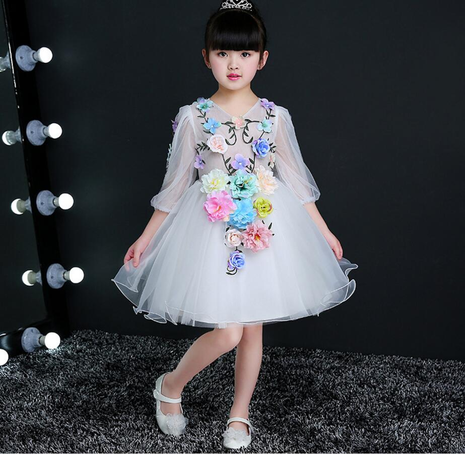 Kids fairy clothes flower girl dresses for weddings bouquet boutique ...