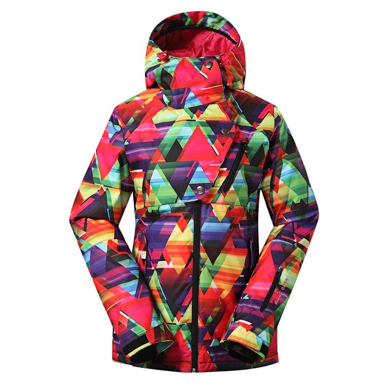 2018 GSOUSNOW ski suit single board  double board skiing dress outdoor waterproof windproof breathable ski suit for women
