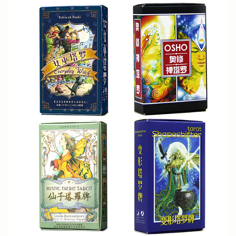 8 Kinds Tarot Deck Board Game Cards Game Animal/Cat/Dragon  Tarot Board Game For Family/Friends