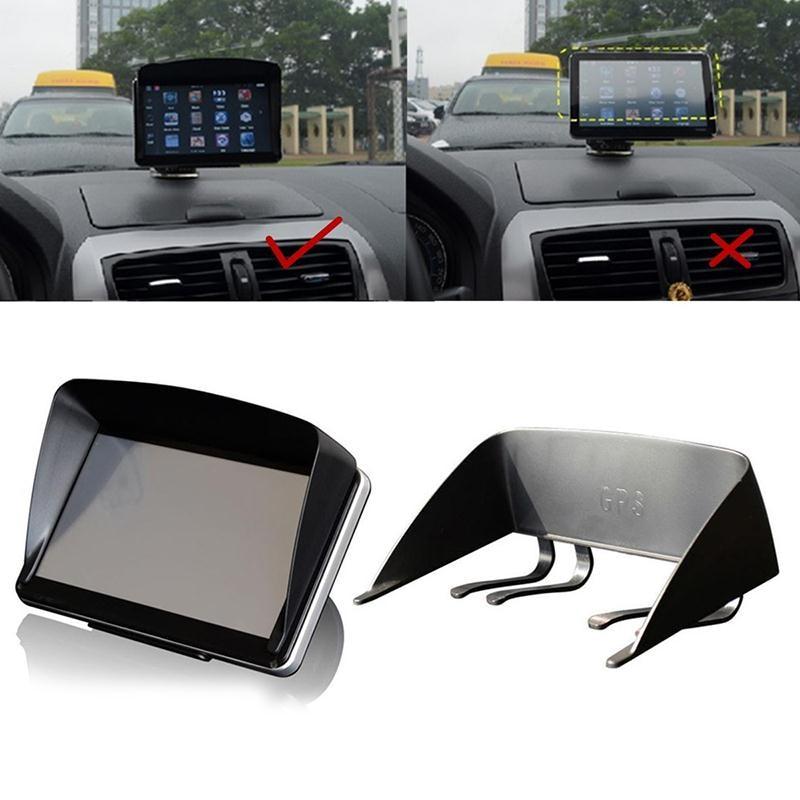 "7/"" Car GPS Navigator Visor Sunshade Hood Sunshield Anti Shield Glare Accessories"