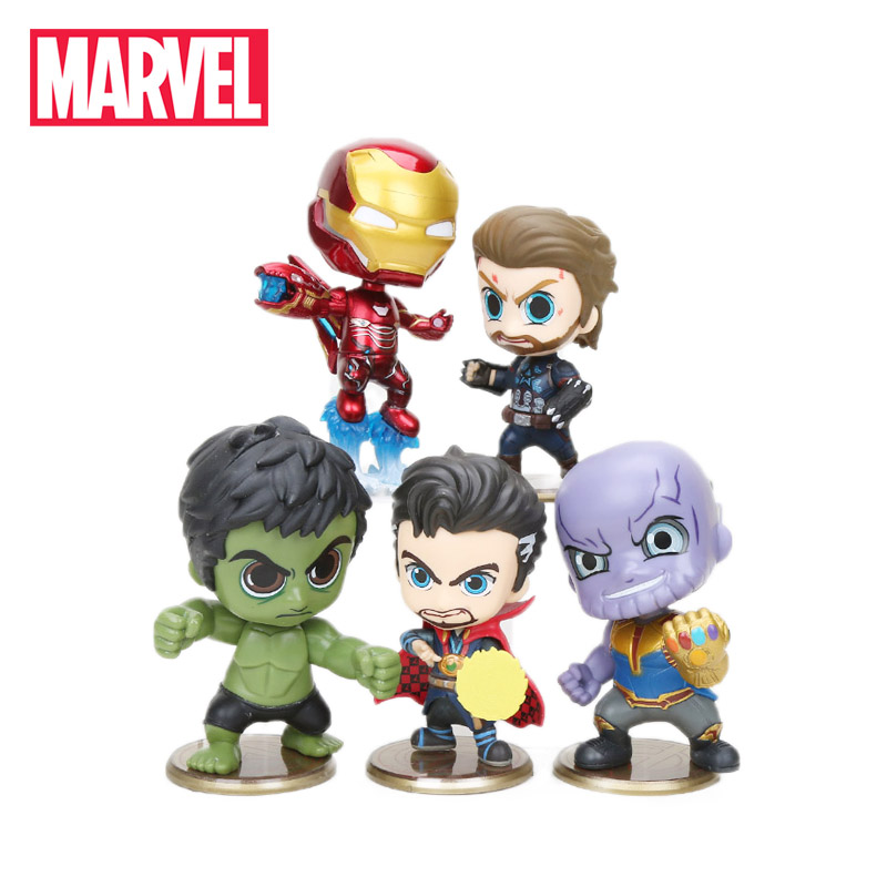 10-12cm Marvel Toys Avengers Endgame Thonas Captain America Iron man Action Figures Doctor Strange Hulk Collectible Model Dolls(China)