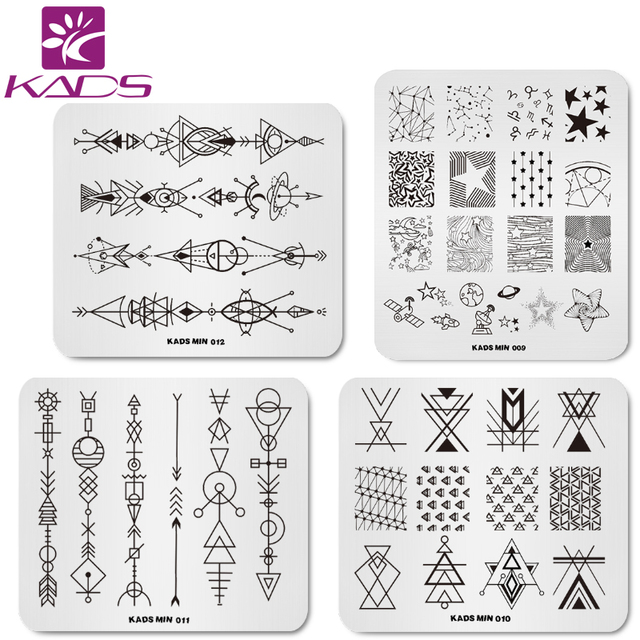 Aliexpress.com : Buy KADS 4pcs/set Geometry Stars Nail Stamping Art ...